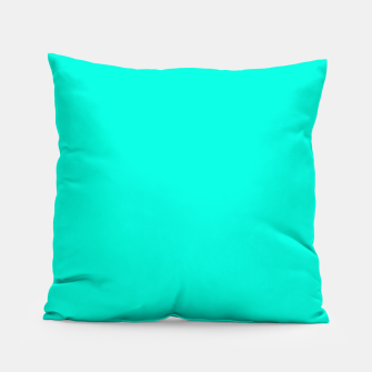 Thumbnail image of Bright Turquoise Color Pillow, Live Heroes