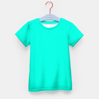 Miniaturka Bright Turquoise Color Kid's t-shirt, Live Heroes