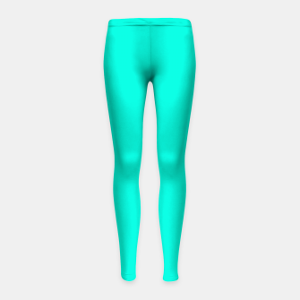Thumbnail image of Bright Turquoise Color Girl's leggings, Live Heroes
