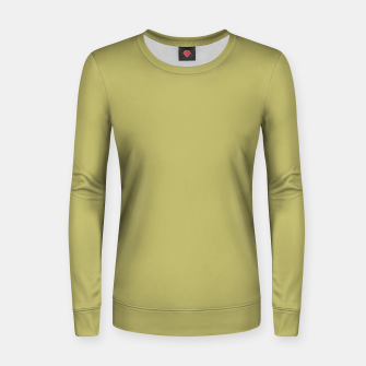 khaki color Woman cotton sweater thumbnail image