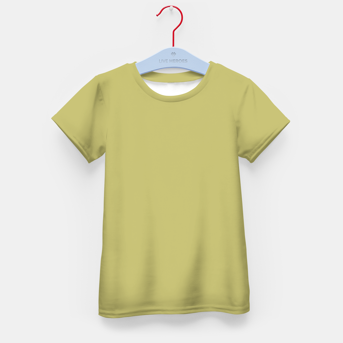 Image of khaki color Kid's t-shirt - Live Heroes