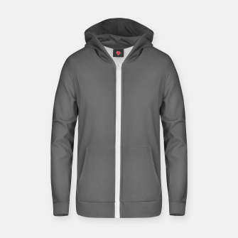 Dove Gray Color Cotton zip up hoodie thumbnail image