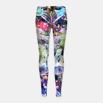 Thumbnail image of Crow's Paintbrush Girl's leggings, Live Heroes