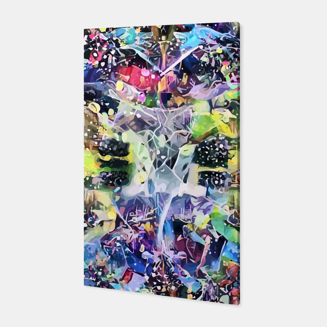 Image of Crow's Paintbrush Canvas - Live Heroes