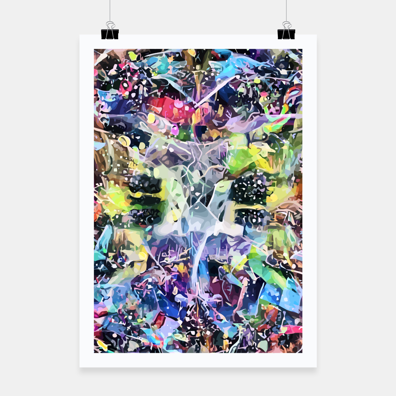 Image of Crow's Paintbrush Poster - Live Heroes