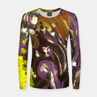 Thumbnail image of Purple Curls Woman cotton sweater, Live Heroes