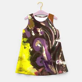 Thumbnail image of Purple Curls Girl's summer dress, Live Heroes