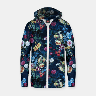 Thumbnail image of Night Garden XVI Cotton zip up hoodie, Live Heroes