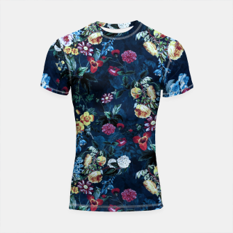Thumbnail image of Night Garden XVI Shortsleeve rashguard, Live Heroes
