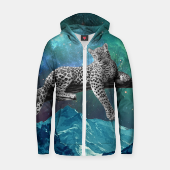 Thumbnail image of Lethargic Leopard Cotton zip up hoodie, Live Heroes