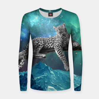 Thumbnail image of Lethargic Leopard Woman cotton sweater, Live Heroes