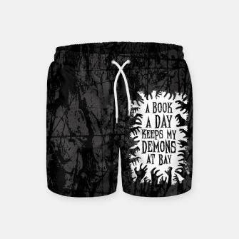 Thumbnail image of A Book A Day Keeps My Demons At Bay Swim Shorts, Live Heroes