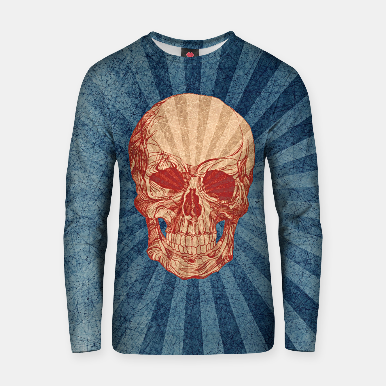 Image of Retro Skull Cotton sweater - Live Heroes