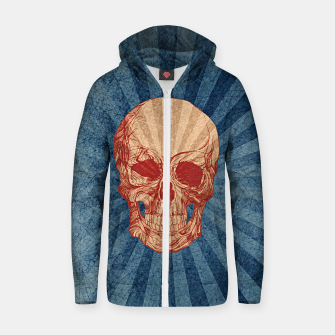 Retro Skull Cotton zip up hoodie thumbnail image