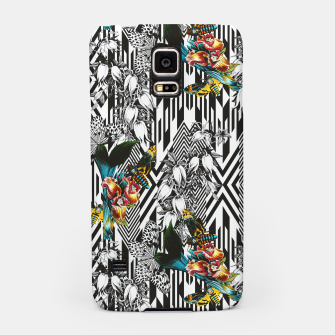 Flowery Geometric Mosaic With Butterflies Carcasa por Samsung thumbnail image