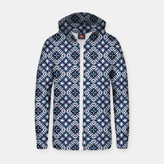 Imagen en miniatura de Modern Checked Pattern Cotton zip up hoodie, Live Heroes
