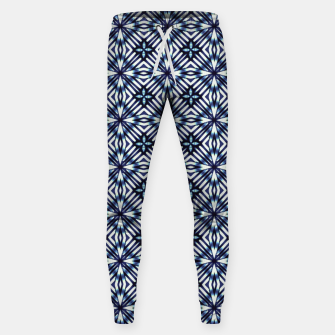 Imagen en miniatura de Modern Checked Pattern Cotton sweatpants, Live Heroes