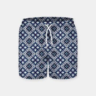 Thumbnail image of Modern Checked Pattern Swim Shorts, Live Heroes