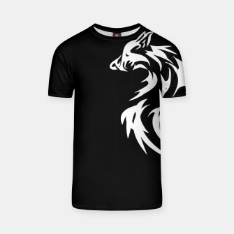 Thumbnail image of Tribal White Wolf | Fancy Retro Art T-shirt, Live Heroes