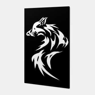 Thumbnail image of Tribal White Wolf | Fancy Retro Art Canvas, Live Heroes