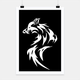 Thumbnail image of Tribal White Wolf | Fancy Retro Art Poster, Live Heroes