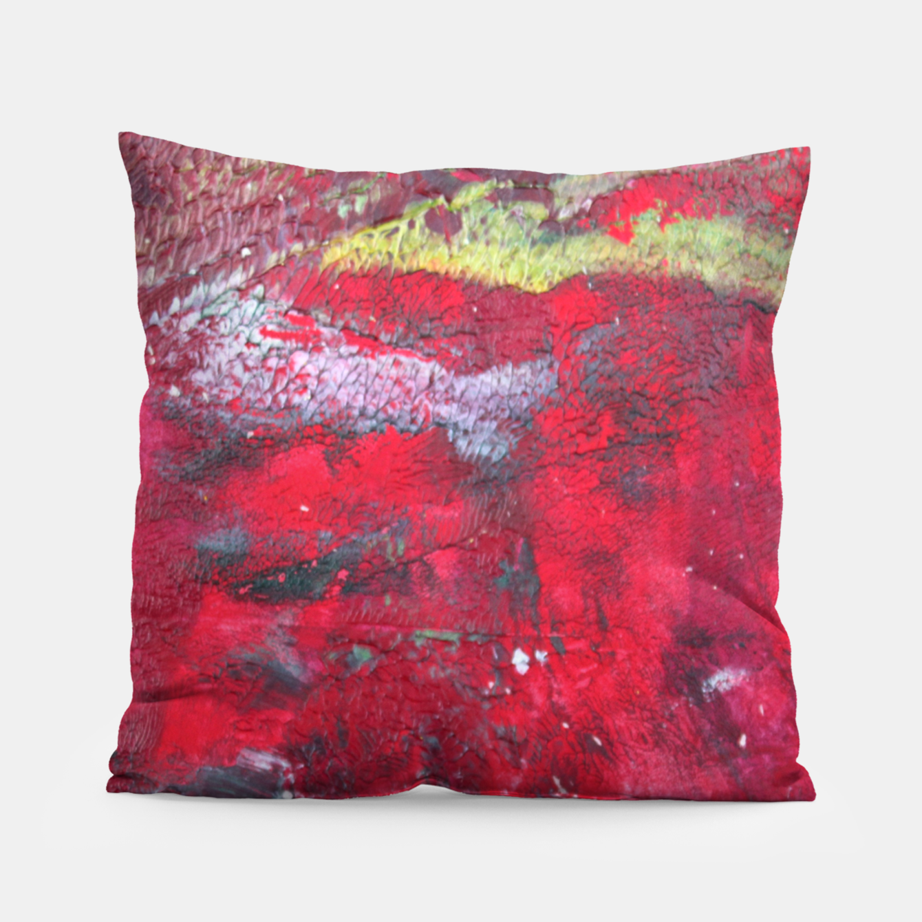 Image of Dark Red Pillow - Live Heroes