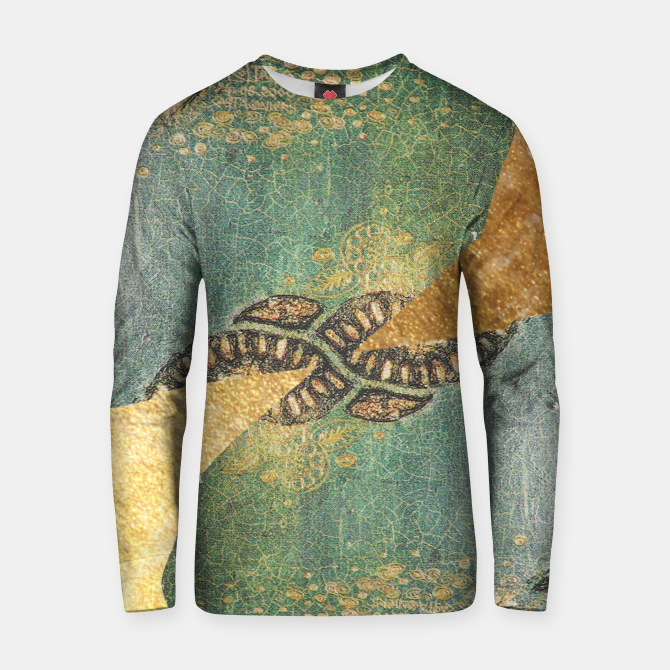 Image of Gold Green Cotton sweater - Live Heroes