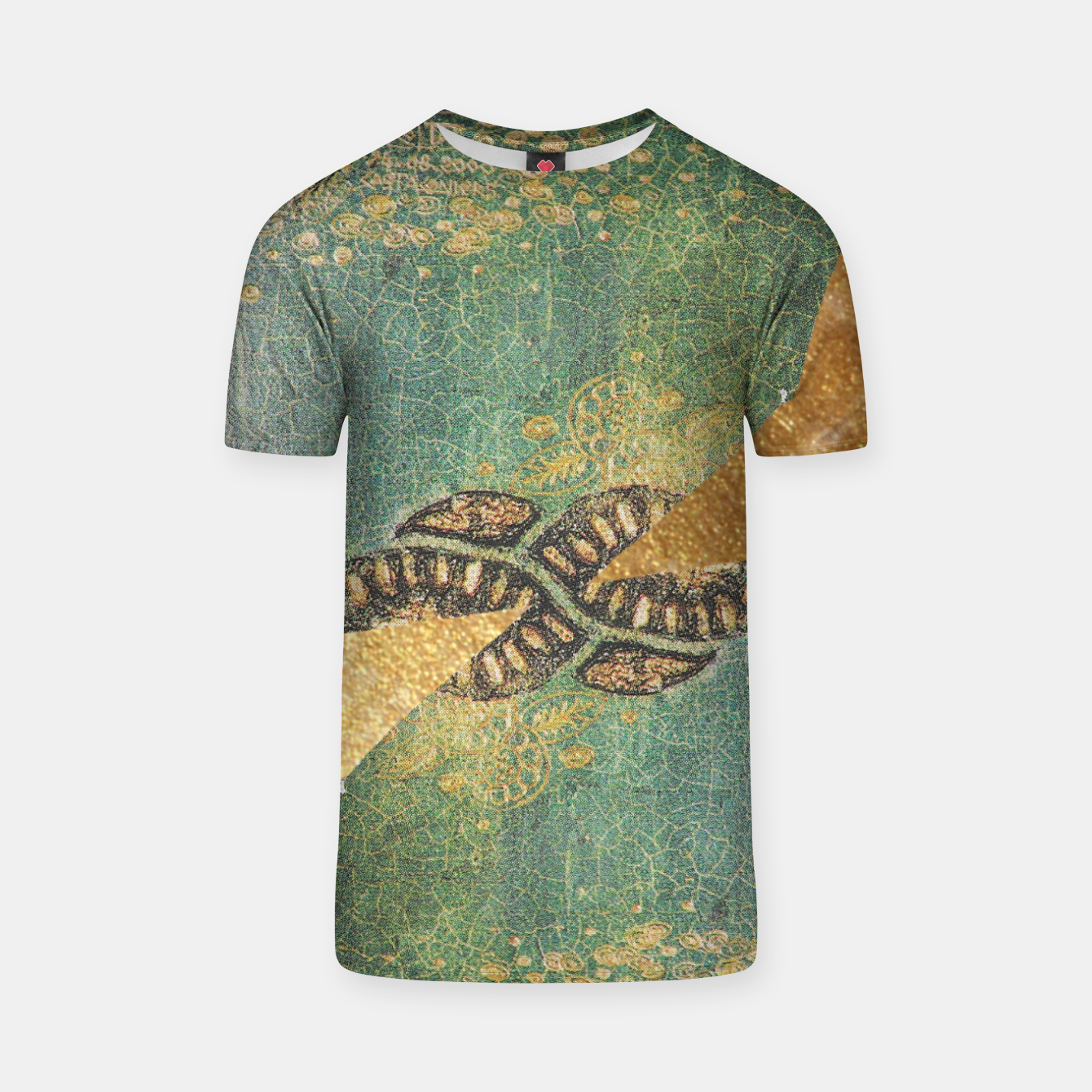 Image of Gold Green T-shirt - Live Heroes