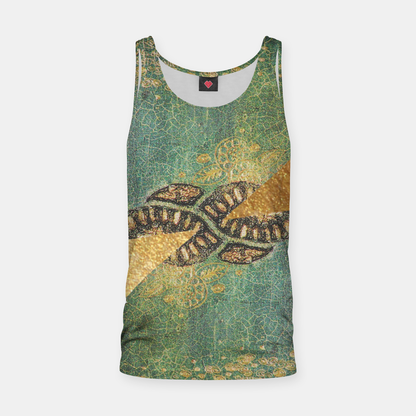 Image of Gold Green Tank Top - Live Heroes