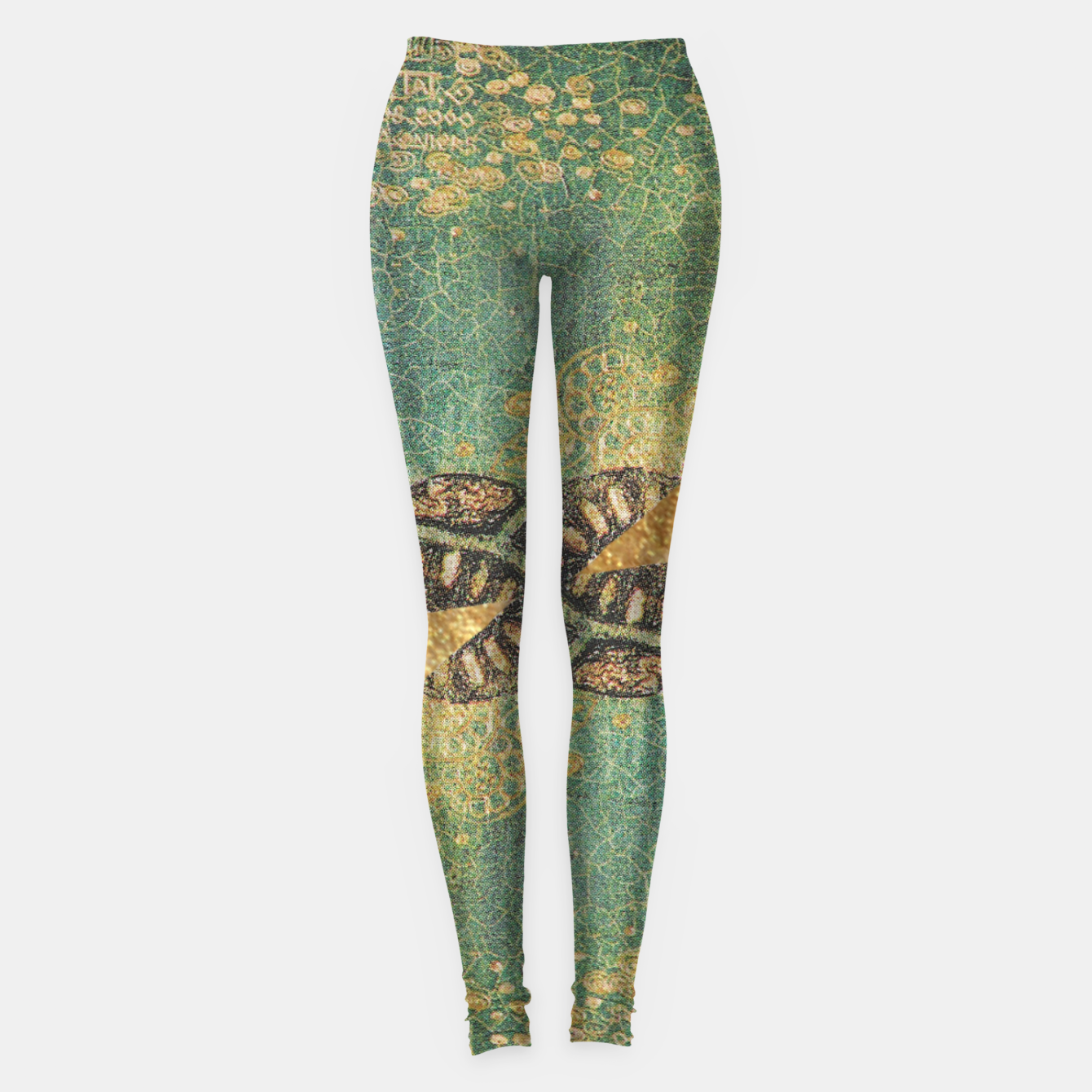 Image of Gold Green Leggings - Live Heroes