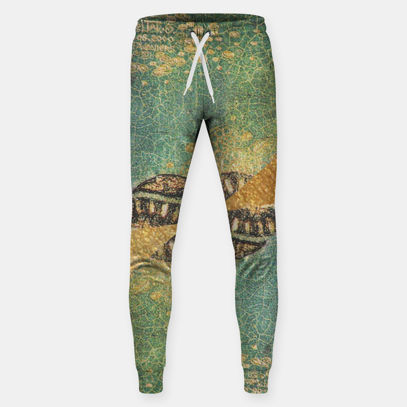 Image of Gold Green Cotton sweatpants - Live Heroes