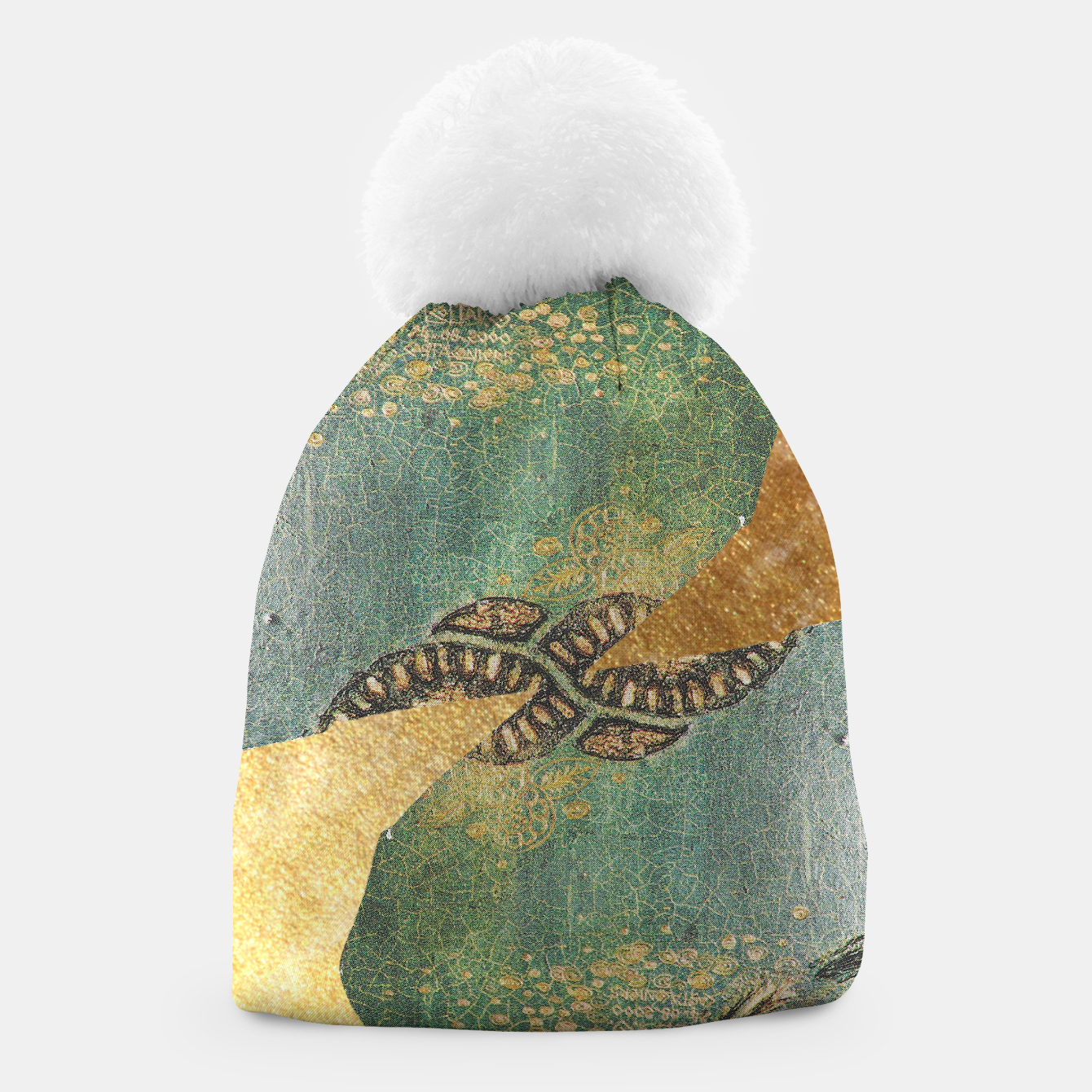 Image of Gold Green Beanie - Live Heroes