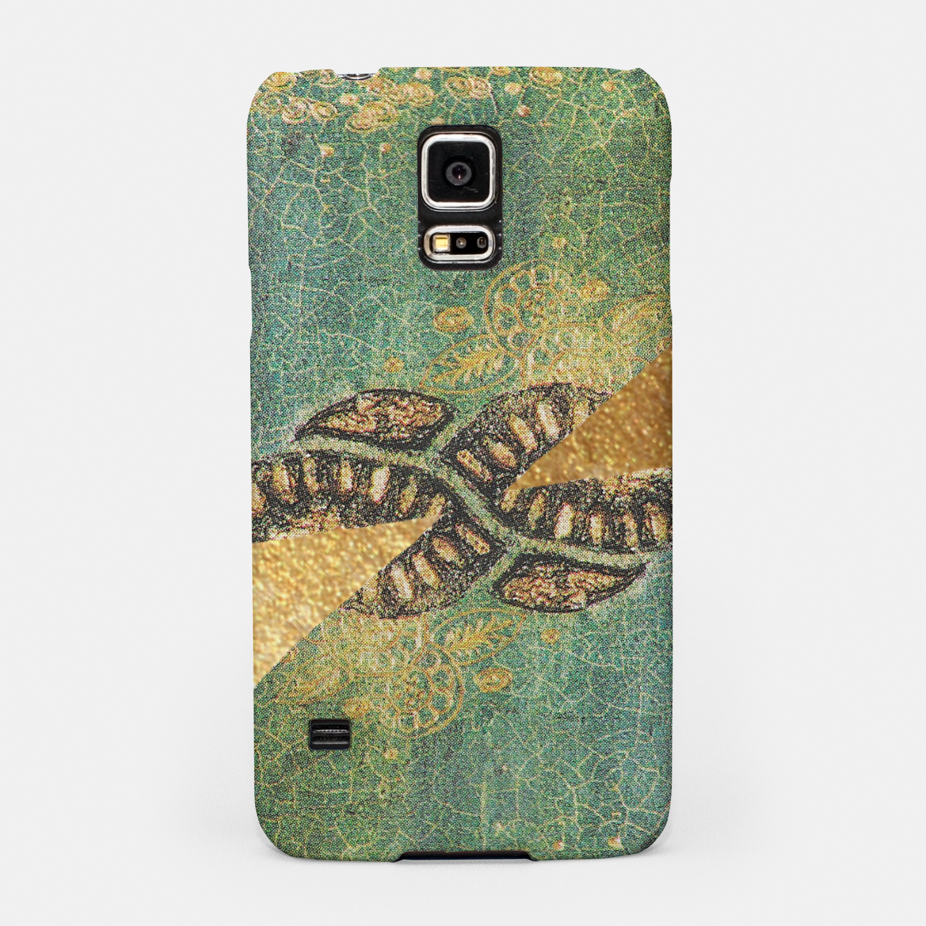 Image of Gold Green Samsung Case - Live Heroes