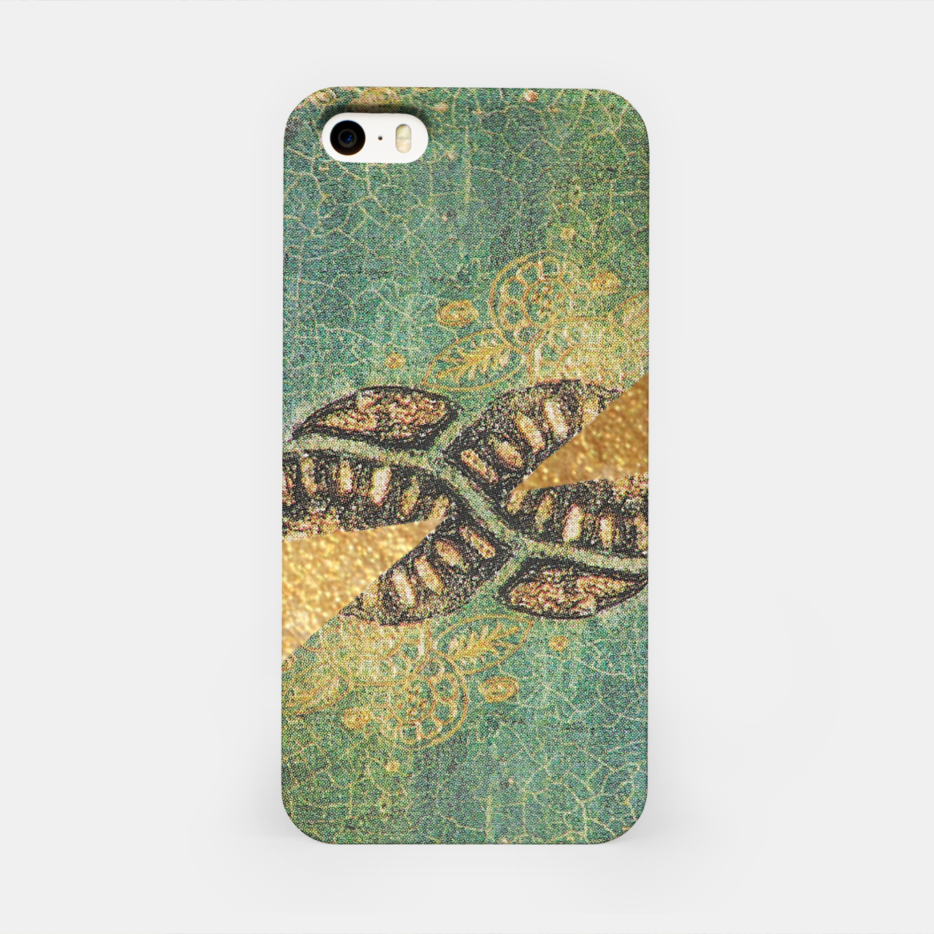 Image of Gold Green iPhone Case - Live Heroes