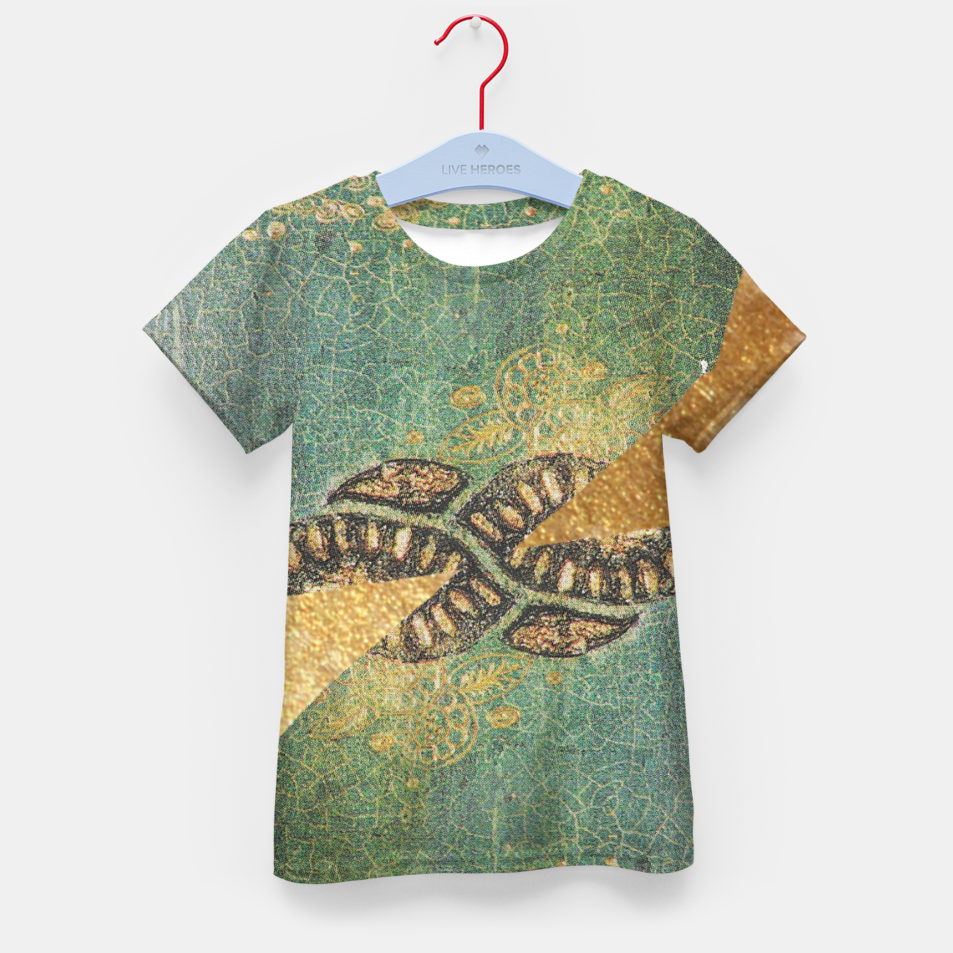 Image of Gold Green Kid's t-shirt - Live Heroes
