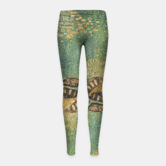 Thumbnail image of Gold Green Girl's leggings, Live Heroes