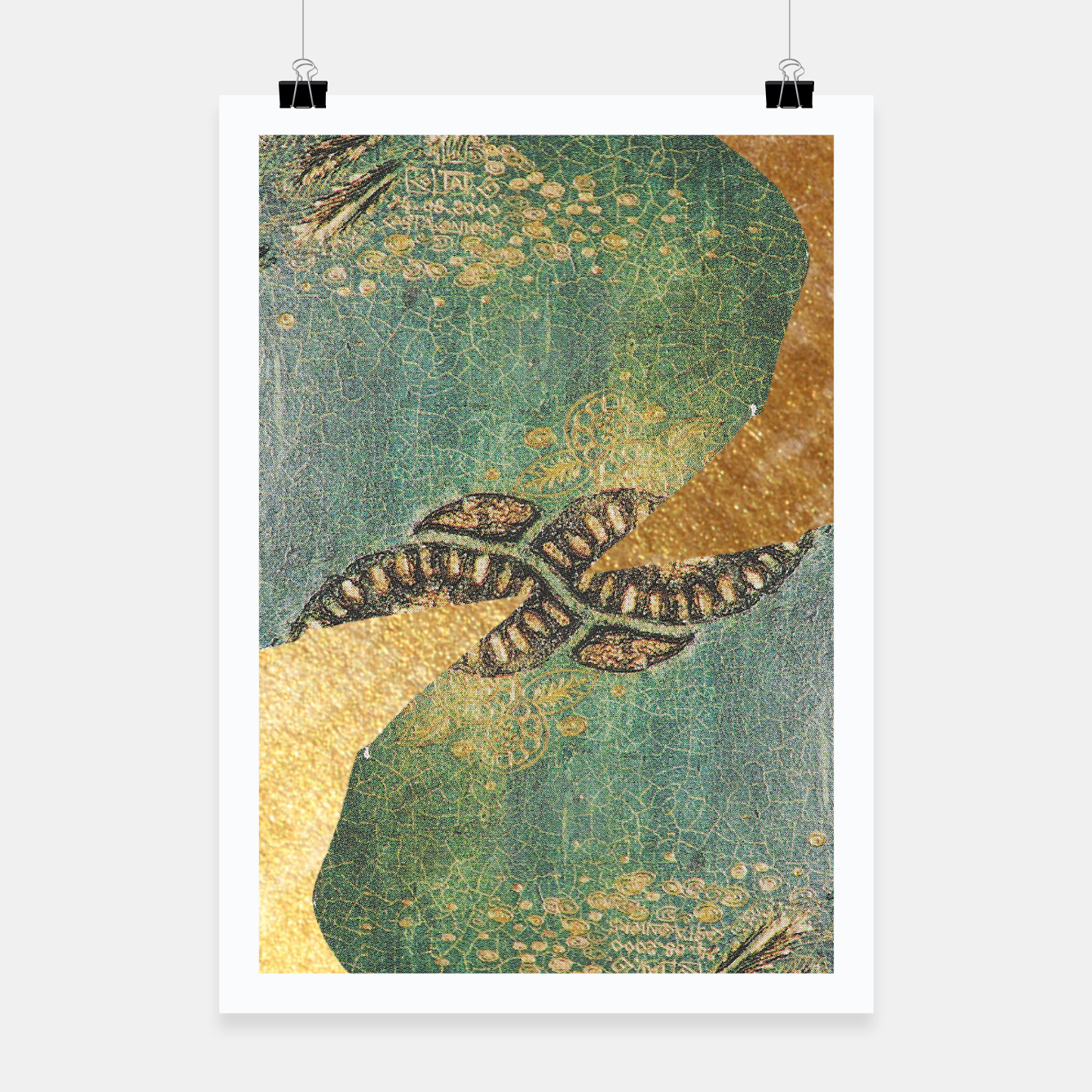 Image of Gold Green Poster - Live Heroes