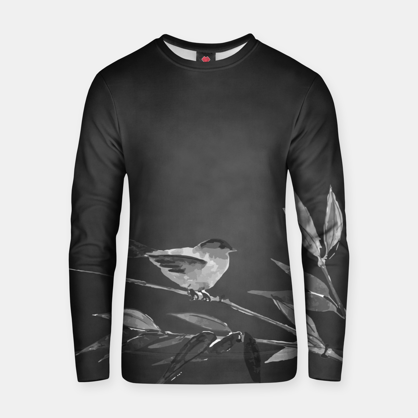 Image of A gray bird Cotton sweater - Live Heroes