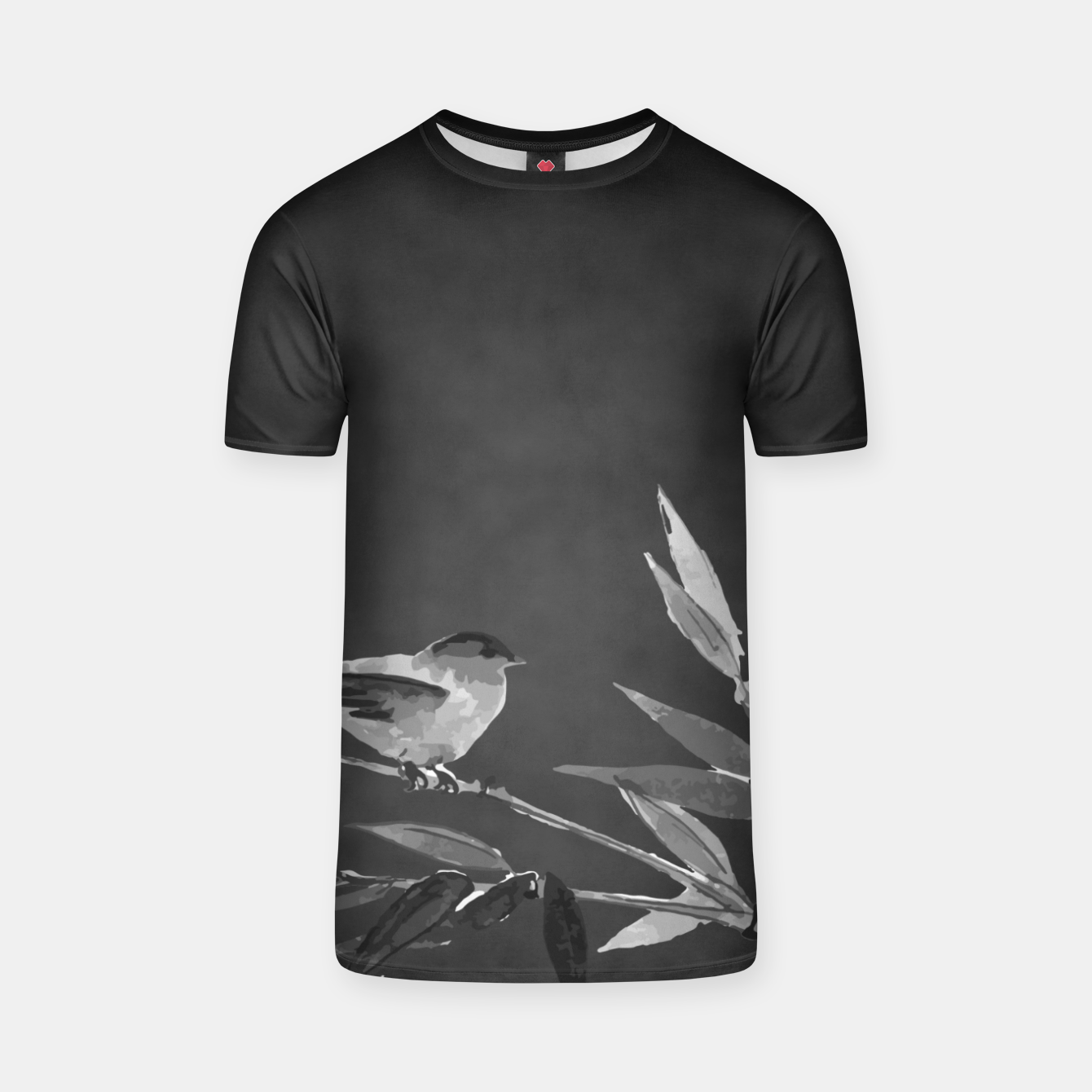 Image of A gray bird T-shirt - Live Heroes