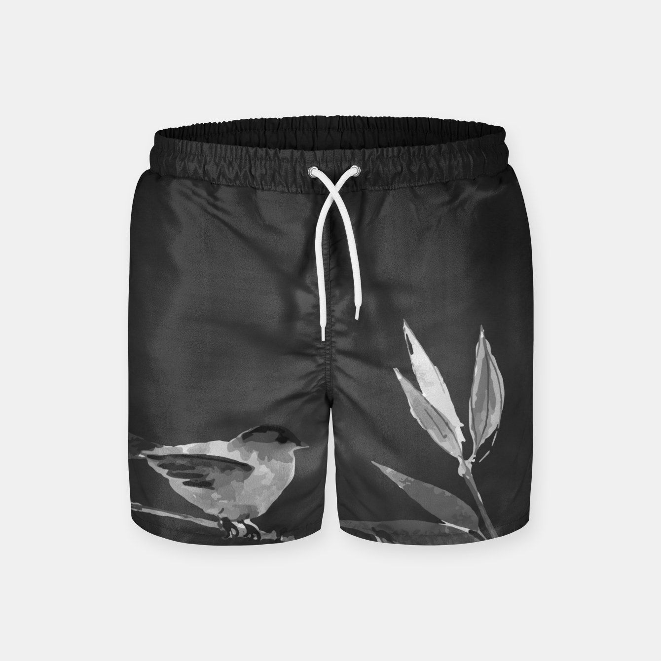 Image of A gray bird Swim Shorts - Live Heroes