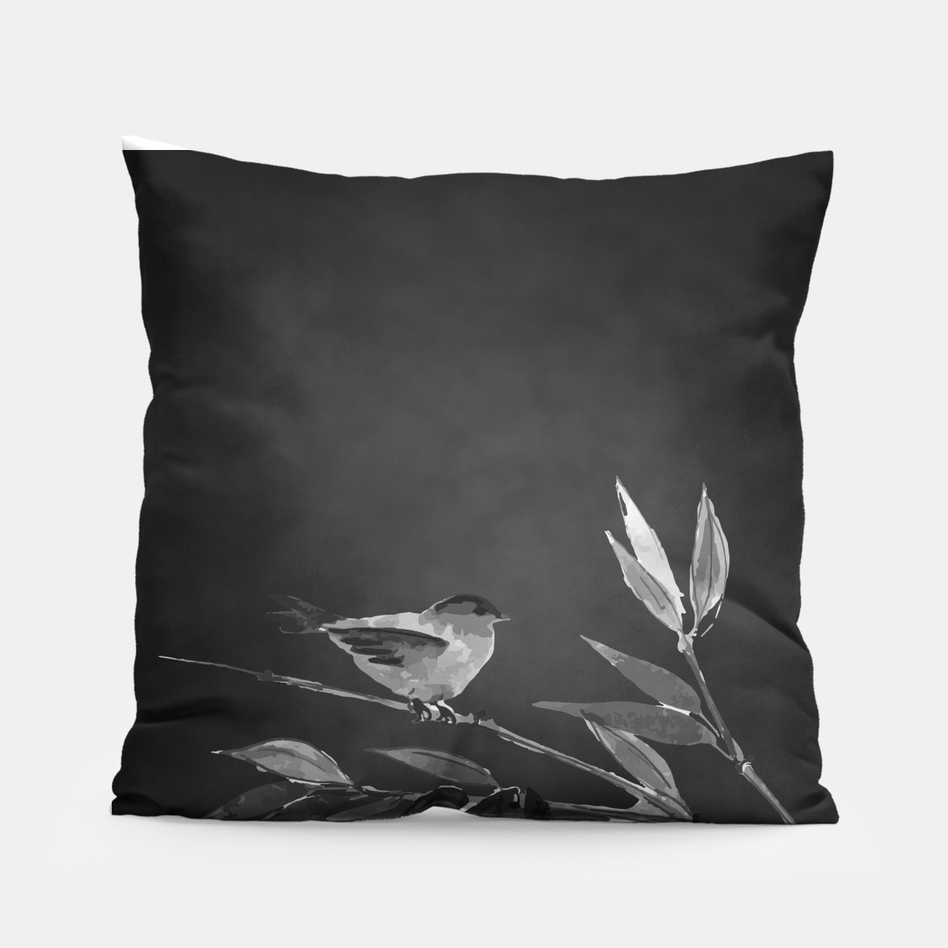 Image of A gray bird Pillow - Live Heroes