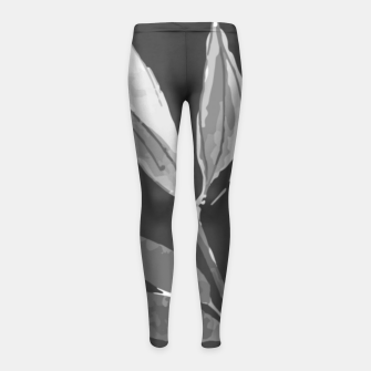 Thumbnail image of A gray bird Girl's leggings, Live Heroes