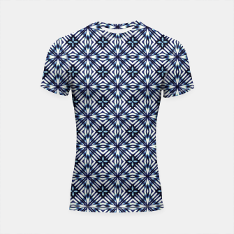 Thumbnail image of Modern Checked Pattern Shortsleeve rashguard, Live Heroes