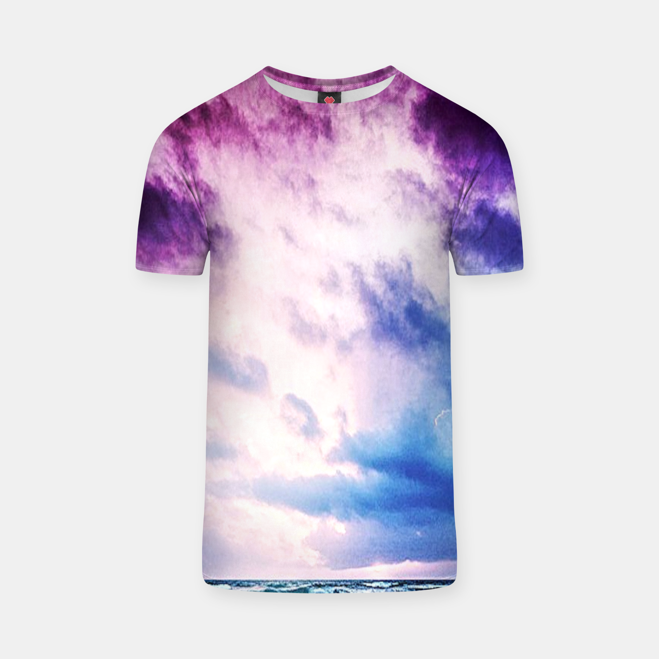 Image of Cloudy shores T-shirt - Live Heroes