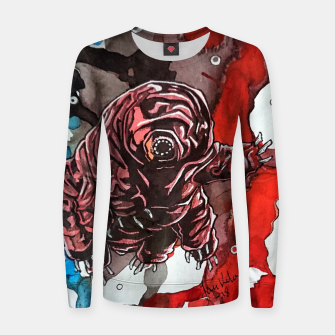 Thumbnail image of Tsundere Tardigrade Woman cotton sweater, Live Heroes