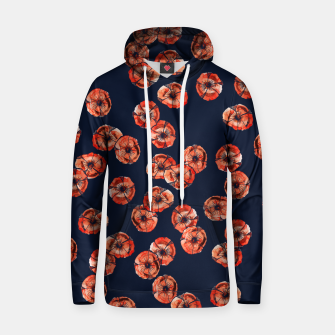 Thumbnail image of Red Poppy Cotton hoodie, Live Heroes