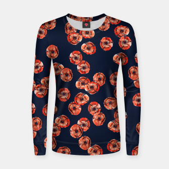 Thumbnail image of Red Poppy Woman cotton sweater, Live Heroes