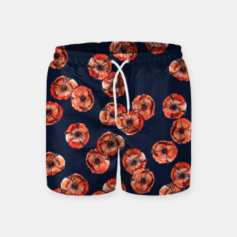 Thumbnail image of Red Poppy Swim Shorts, Live Heroes
