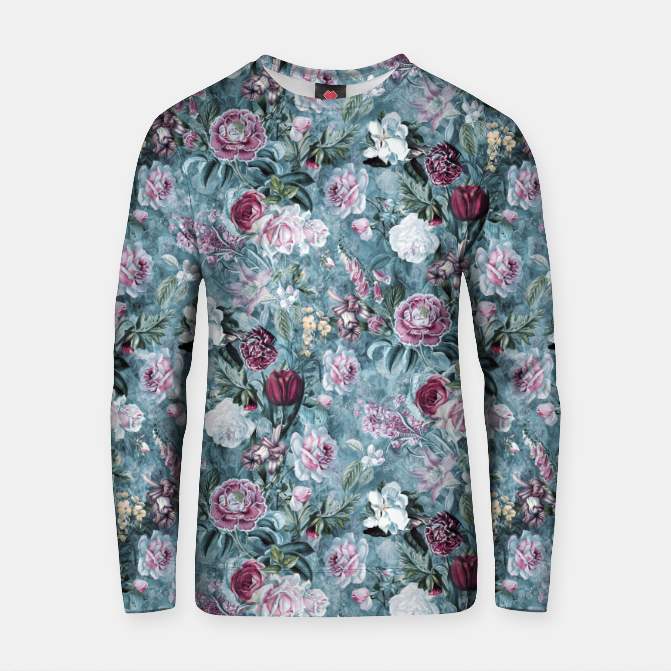 Image of Botanical Garden Blue Cotton sweater - Live Heroes