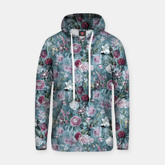 Thumbnail image of Botanical Garden Blue Cotton hoodie, Live Heroes